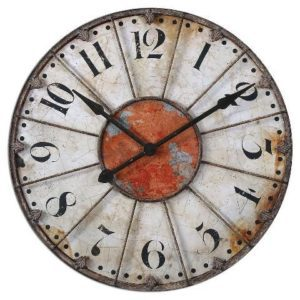 A wall clock will give your home a classic look and also be a functional piece of decor.
