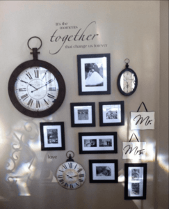 Use a clock to highlight a special moment in time for your family.