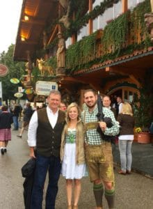 Oktoberfest with my husband Dave, Jeff and Tiernee