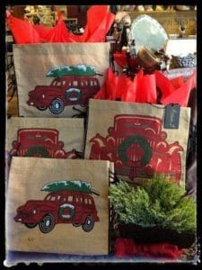 Holiday gift bags available at A Village Gift Shop in historic Glendale.