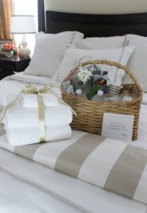Welcome guests with a small gift or card. Image: Graceful Order