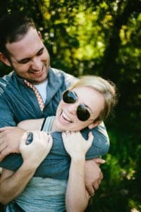 My son Jeffrey and his beautiful fiancée moments after their engagement!